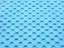 Blue wallpapers in form of honeycombs Royalty Free Stock Image