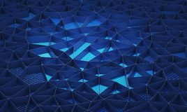 Blue walls background for technology concept, 3d illustration.  Royalty Free Stock Photography