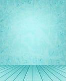 Blue walls and floor stock illustration