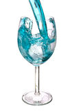 Blue warer in glass. Is isolate royalty free stock photos