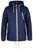 Blue warm jacket. Isolated on white background Stock Photos