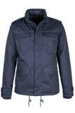 Blue warm jacket. Isolated on white background Stock Photography