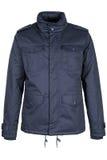 Blue warm jacket. Isolated on white background Royalty Free Stock Photos