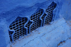 Blue is the warmest color. Inconspicuous place where in Chefchaouen, Morocco Royalty Free Stock Image
