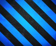 Blue Warning Stripes Background Royalty Free Stock Image