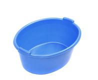Blue washbowl. Stock Images