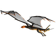 Blue Wasp Dragon Flight Stock Images