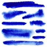 Blue watarcolor paint strokes Stock Image