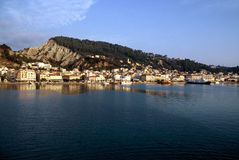 Blue Water. The view on Zakhyntos Town in Greece Royalty Free Stock Photography