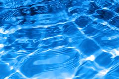 Blue water Stock Image