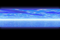 Blue water. Banner Stock Photography