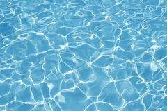 Blue Water. Reflection of Sun in a Swimming Pool Royalty Free Stock Photos