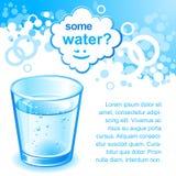 Blue water vector illustration