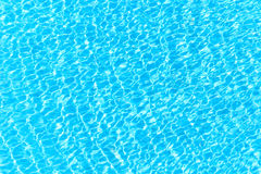 Blue water abstract background. From water surface in swimming pool Stock Image