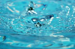 Blue water abstraction Stock Photos