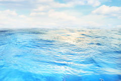 Blue water background Stock Photography