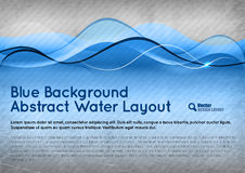 Blue Water Background Royalty Free Stock Image