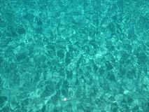 Blue water. Water at barbados Royalty Free Stock Image
