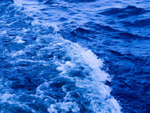 Blue water boils Stock Photo