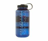Blue Water Bottle stock image