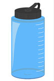 Blue Water bottle isolated Royalty Free Stock Images