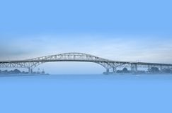 Blue water bridge Royalty Free Stock Photos
