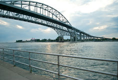 Blue Water Bridge, Port Huron, MI Stock Photography