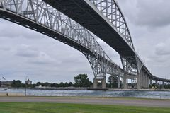 Blue Water Bridges 2 Royalty Free Stock Photo