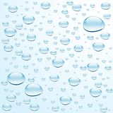 Blue water with bubbles Royalty Free Stock Photo