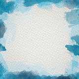 Blue Water Color Frame. Frame from  watercolor stains on white paper Stock Images