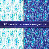 Blue water  dot wave curve pattern Royalty Free Stock Photos