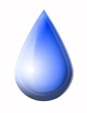Blue water drop. On white background Royalty Free Stock Photo