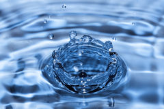 Blue water drop Stock Photo