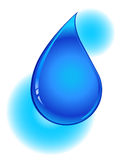 Blue Water Drop. An illustration of a blue water drop on a white background Stock Photo