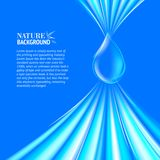 Blue Water drop background. Vector illustration, contains transparencies, gradients and effects vector illustration