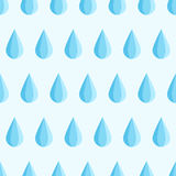 Blue water drop fall down. Seamless blue water drop fall down. Vector flat illustration background pattern Stock Photo