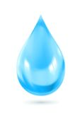 Blue water drop icon Stock Photography