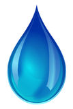 Blue water droplet Royalty Free Stock Images
