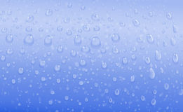 Blue water drops Royalty Free Stock Photography