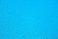 Blue water drops background Royalty Free Stock Photo
