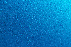 Blue water drops background Royalty Free Stock Images