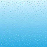 Blue Water drops background Stock Photography