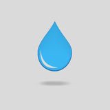 Blue  water drops icon Stock Image