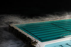 Blue Water on Empty Athlete Pool Stock Images