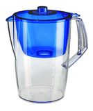 Blue water filtration pitcher Stock Photo