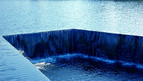 Blue water flow Royalty Free Stock Photography
