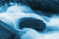 Blue Water Flow Detail Royalty Free Stock Image