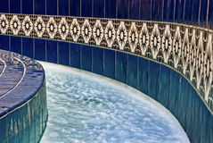 Blue water fountain Royalty Free Stock Image