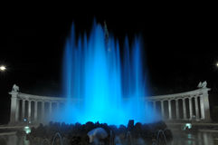 Blue Water Fountain Royalty Free Stock Photography