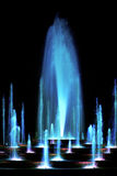 Blue water fountain stock photos